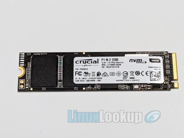 Crucial P1 1TB NVMe PCIe M.2 SSD Review