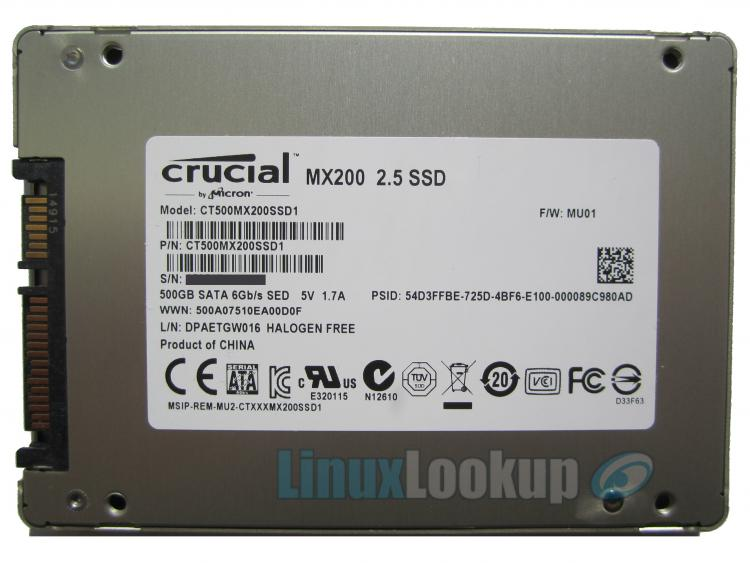 Crucial MX200 500GB SSD Review